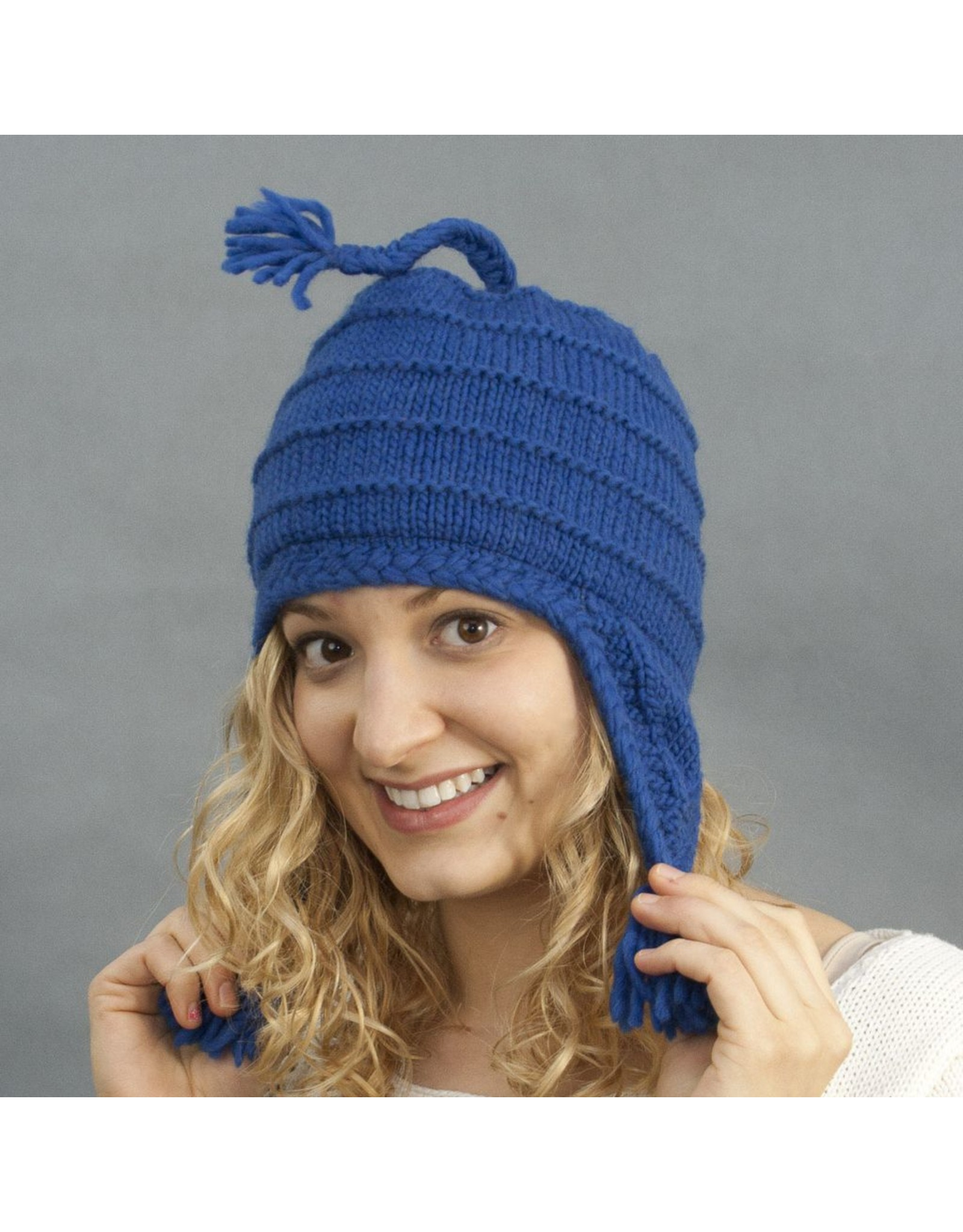 The Sweater Venture Tasseled Flap Cap