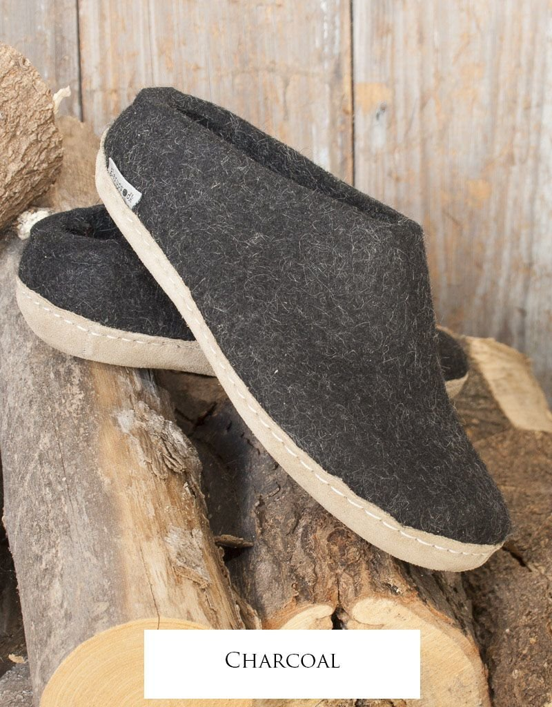 0937494e14 Slip on felted wool indoor shoes by Glerups - Sweater Venture