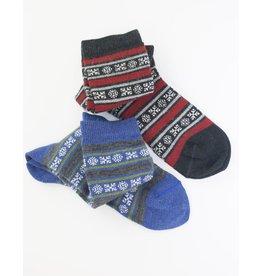 Tabask/TeyArt Geo Stripe Alpaca Sock
