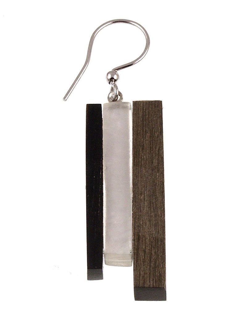 ORIGIN Wood/Shell Earrings