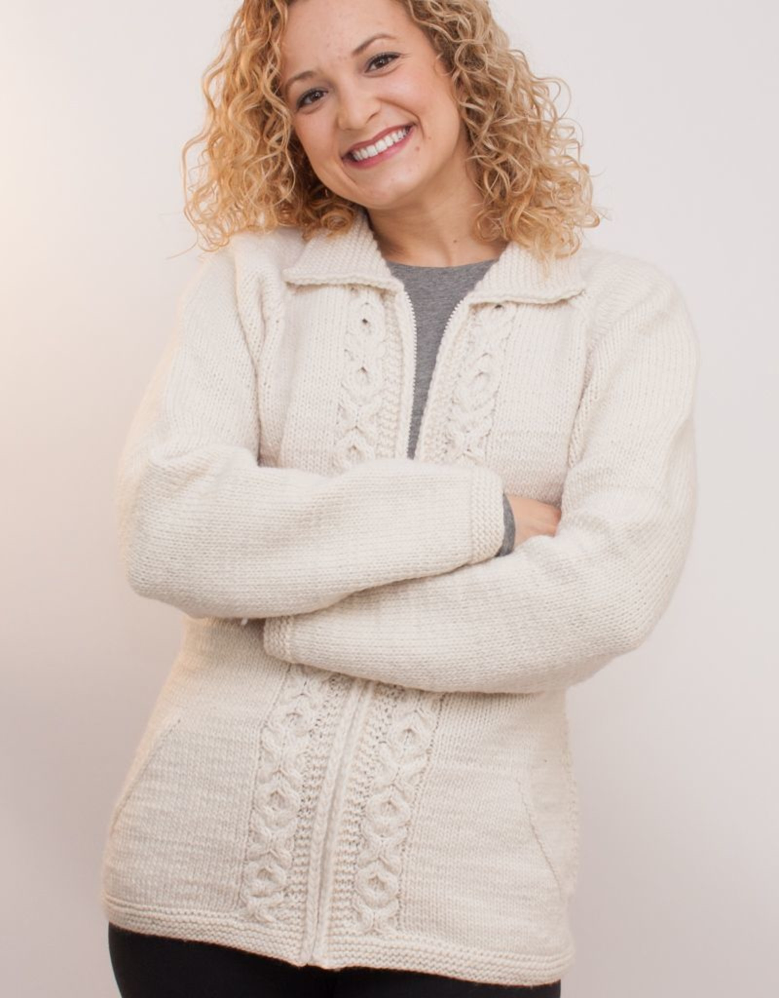 The Sweater Venture Maritza Cable Front Zip