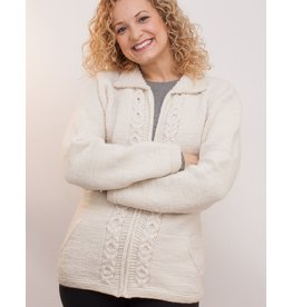 The Sweater Venture Maritza Cable Front Zip