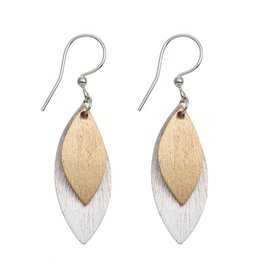 ORIGIN Textured Leaf Earrings