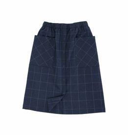 Grid flannel skirt