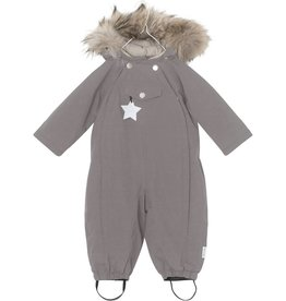 Wisti snowsuit with fur, grey