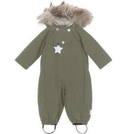 Wisti snowsuit with fur, olive
