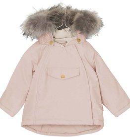 Manteau d'hiver Wang  avec fourrure, rose pâle