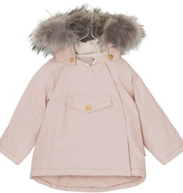 Wang winter jacket with fur, light pink