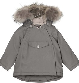 Manteau d'hiver Wang  avec fourrure, gris acier
