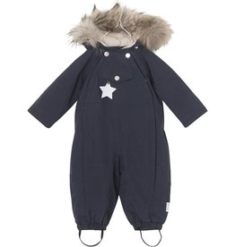Wisti snowsuit with fur, blue navy