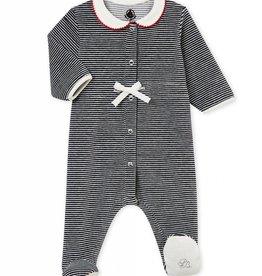 Pyjama ligné en velours