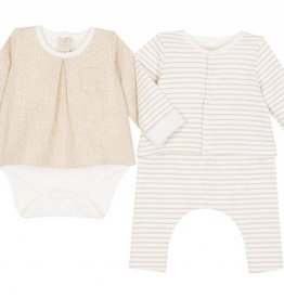 Set of 3 piece baby set, with stripes