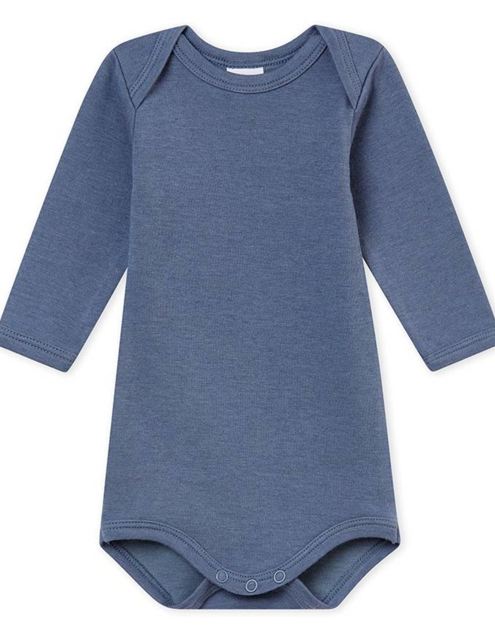 Wool and cotton bodysuit