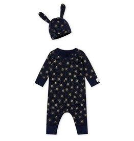 Ensemble combinaison et bonnet pour bébé