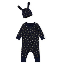 One-piece and hat baby set