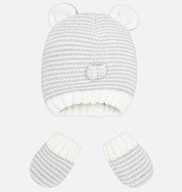 Ensemble bonnet et mitaines pour bébé