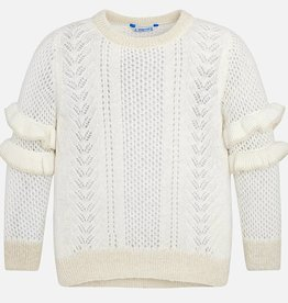 Girl's openwork sweater