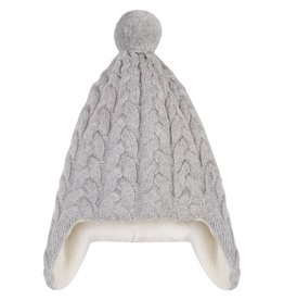 Lined cashmere and cotton hat