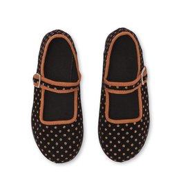 Kid's Jane sling shoes, polka dots print