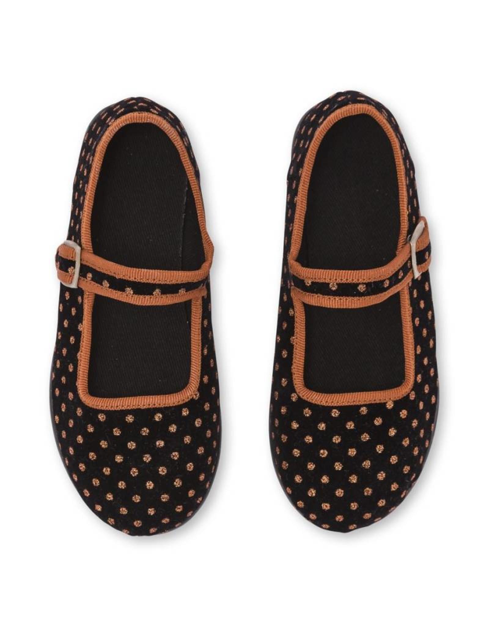 Bonton Baby Jane sling shoes, polka dots print