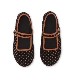 Baby Jane sling shoes, polka dots print