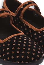 Baby Jane sling shoes, polka dots print