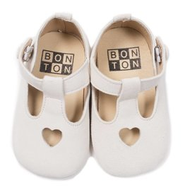 Baby heart slippers