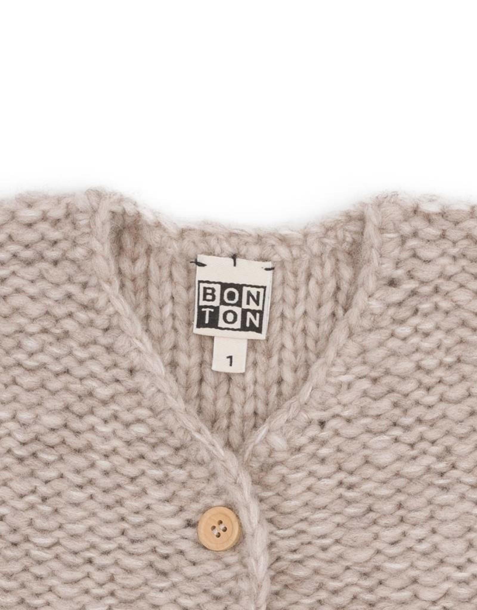 Chunky-knit baby jacket