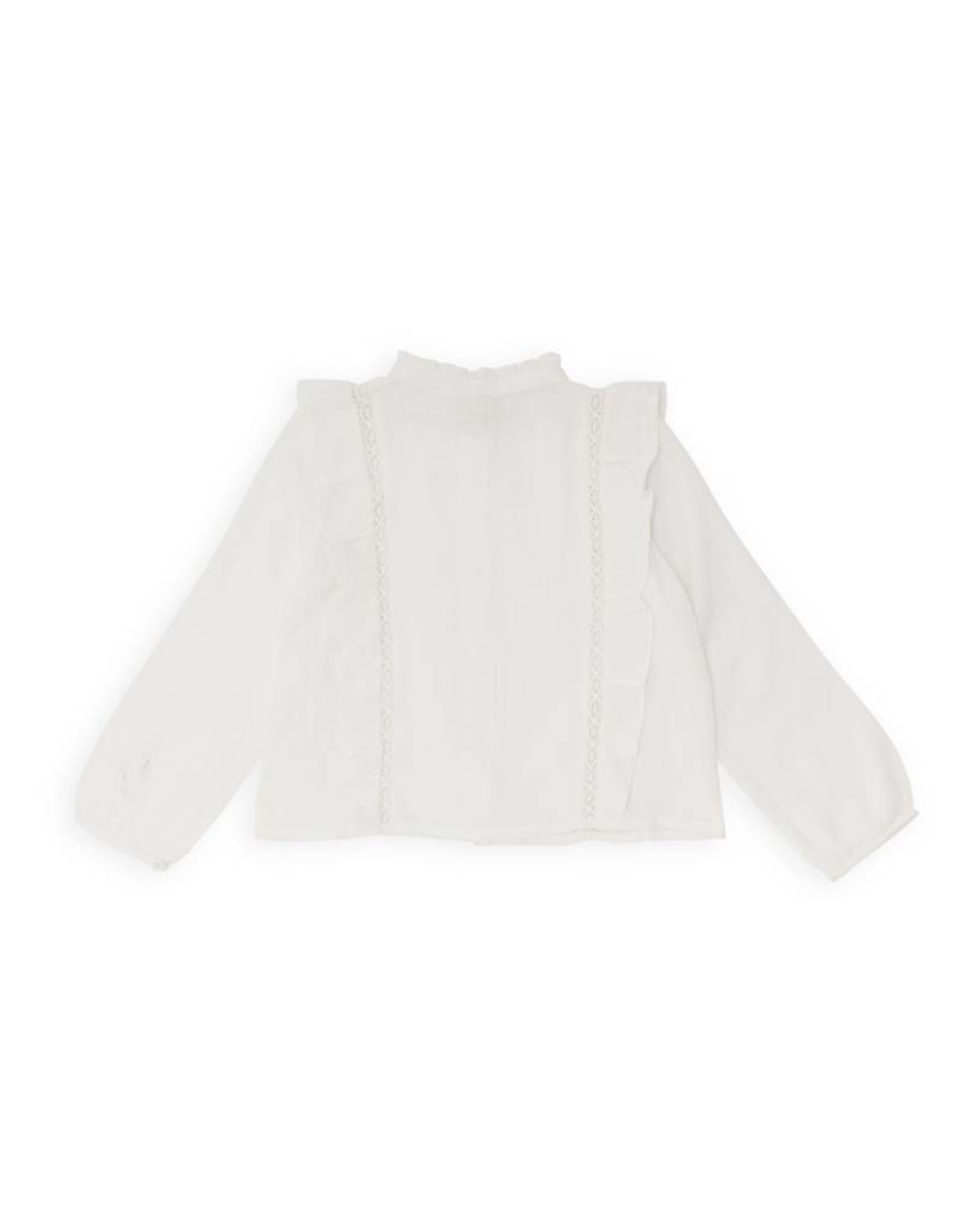 Primrose blouse with ruffles and lace