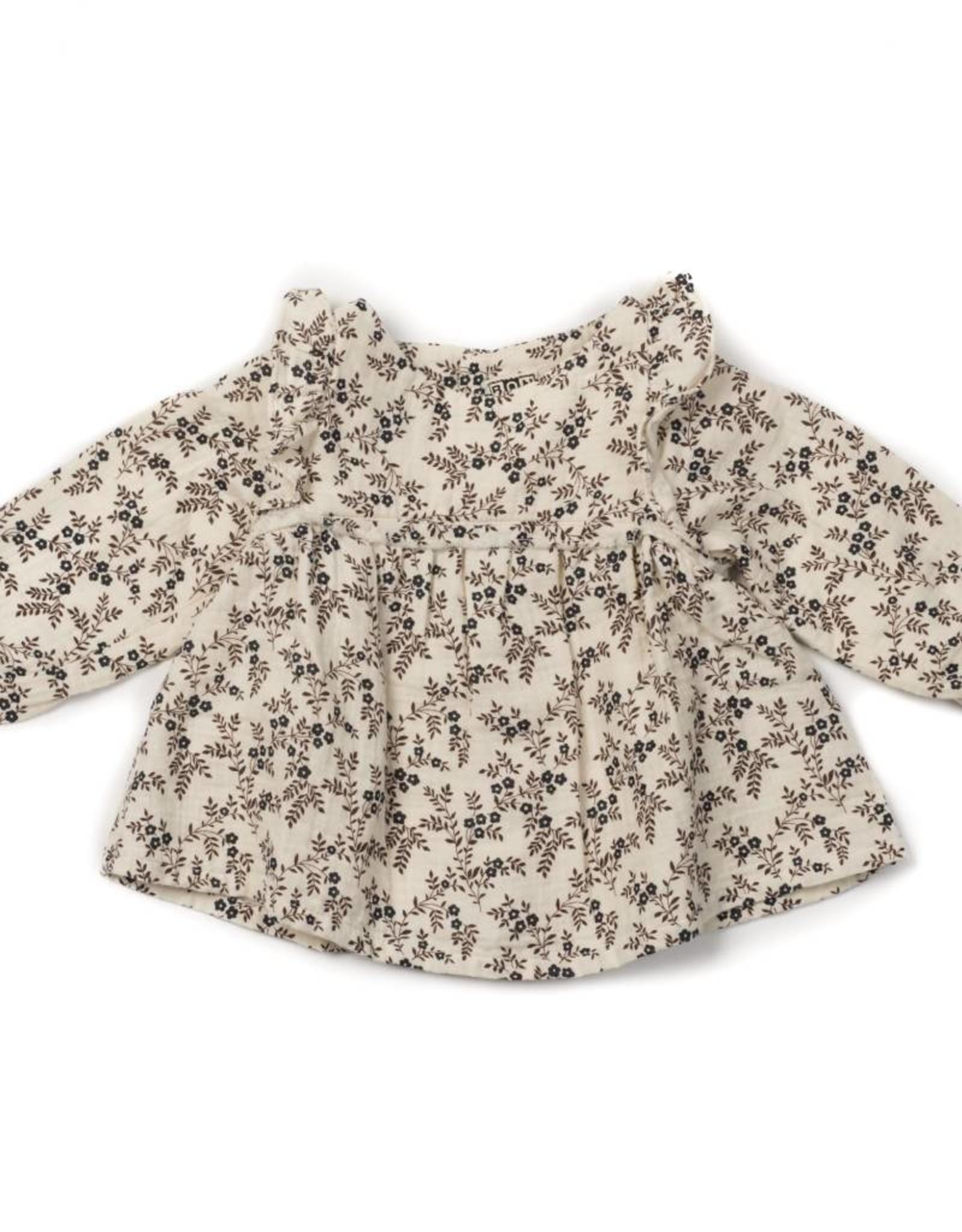 Bonton Blouse pour bébé, imprimé à fleurs