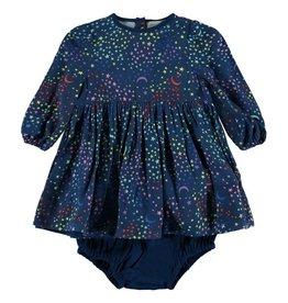 Dress and bloomer, stars print