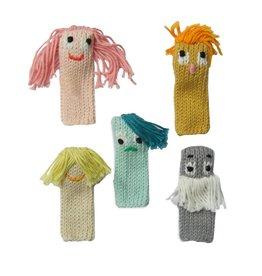 Blabla Kids  Ensemble de 5 marionnettes de doigts Expressionnistes