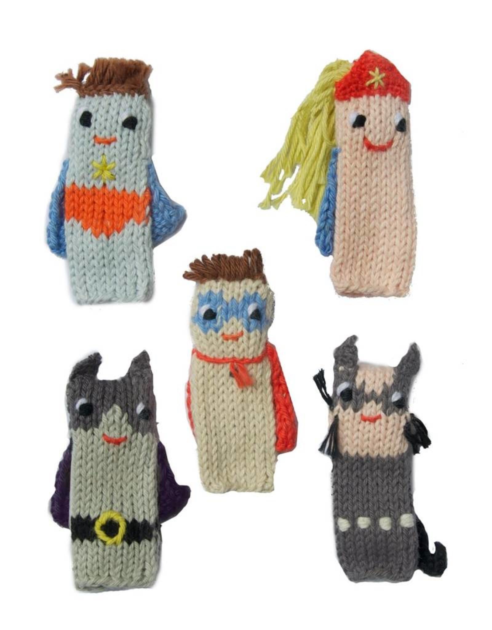 Set of 5 Finger Puppets Super Hero