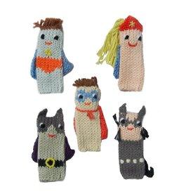 Blabla Kids  Ensemble de 5 marionnettes de doigts Super Héros