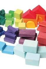 Blocs géométriques colorés, 60 morceaux