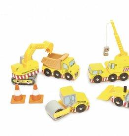 Ensemble de véhicules de construction