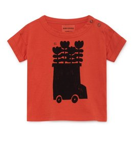 T-shirt pour bébé Autobus en fleurs