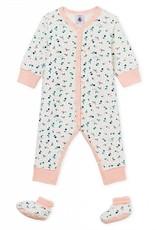Pyjama et chaussons, imprimé fruits