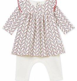 Dress and leggings, floral print