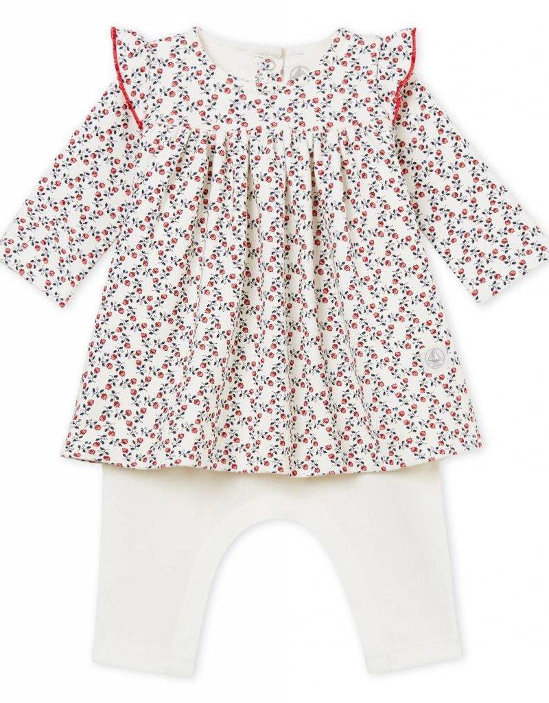 Robe et legging, imprimé à fleurs