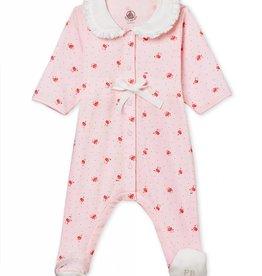 Baby pajamas, flowers print