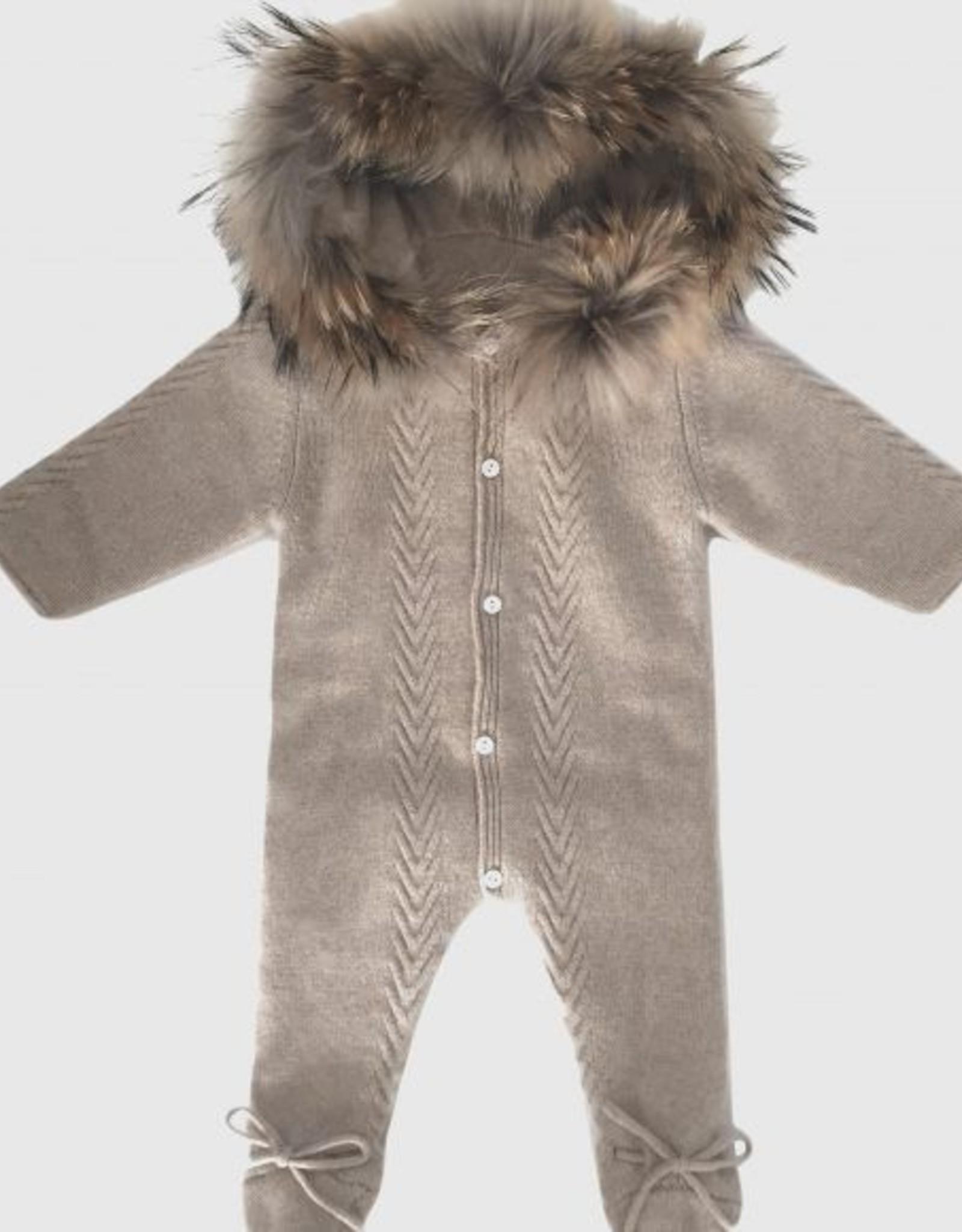 Mini muse Fur collar jumpsuit