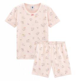 Pyjama court, imprimé lapins