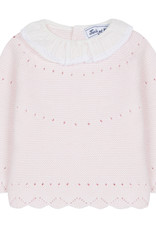 Knit sweater with collar