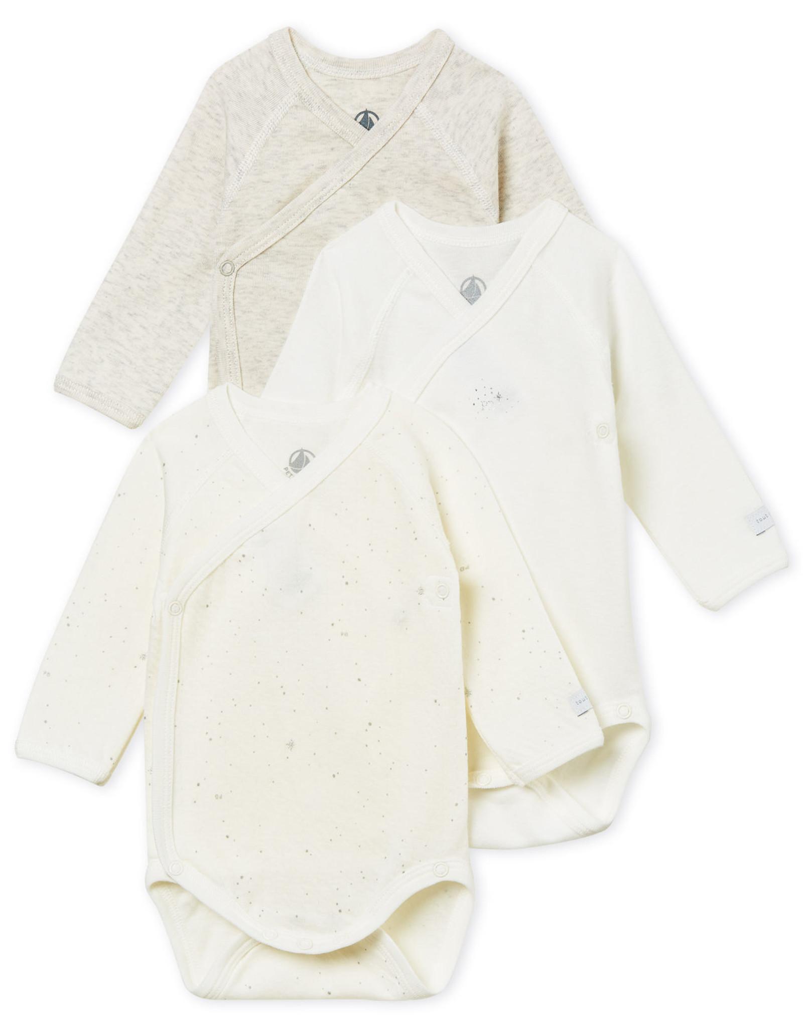 Petit Bateau Set of 3 baby bodysuit