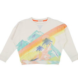 Sweater, palms print