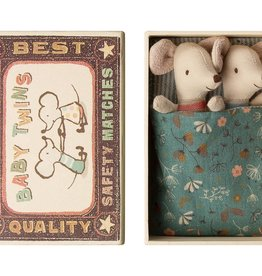 Baby mice twins in a box