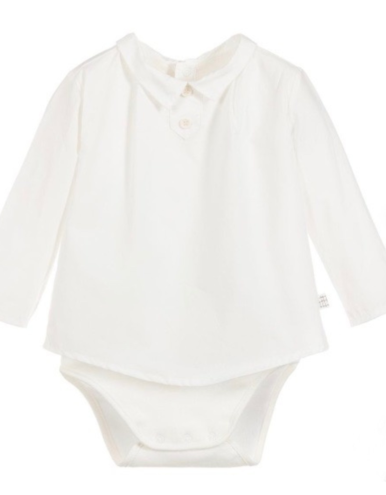 Carrément Beau Bodysuit with a shirt collar