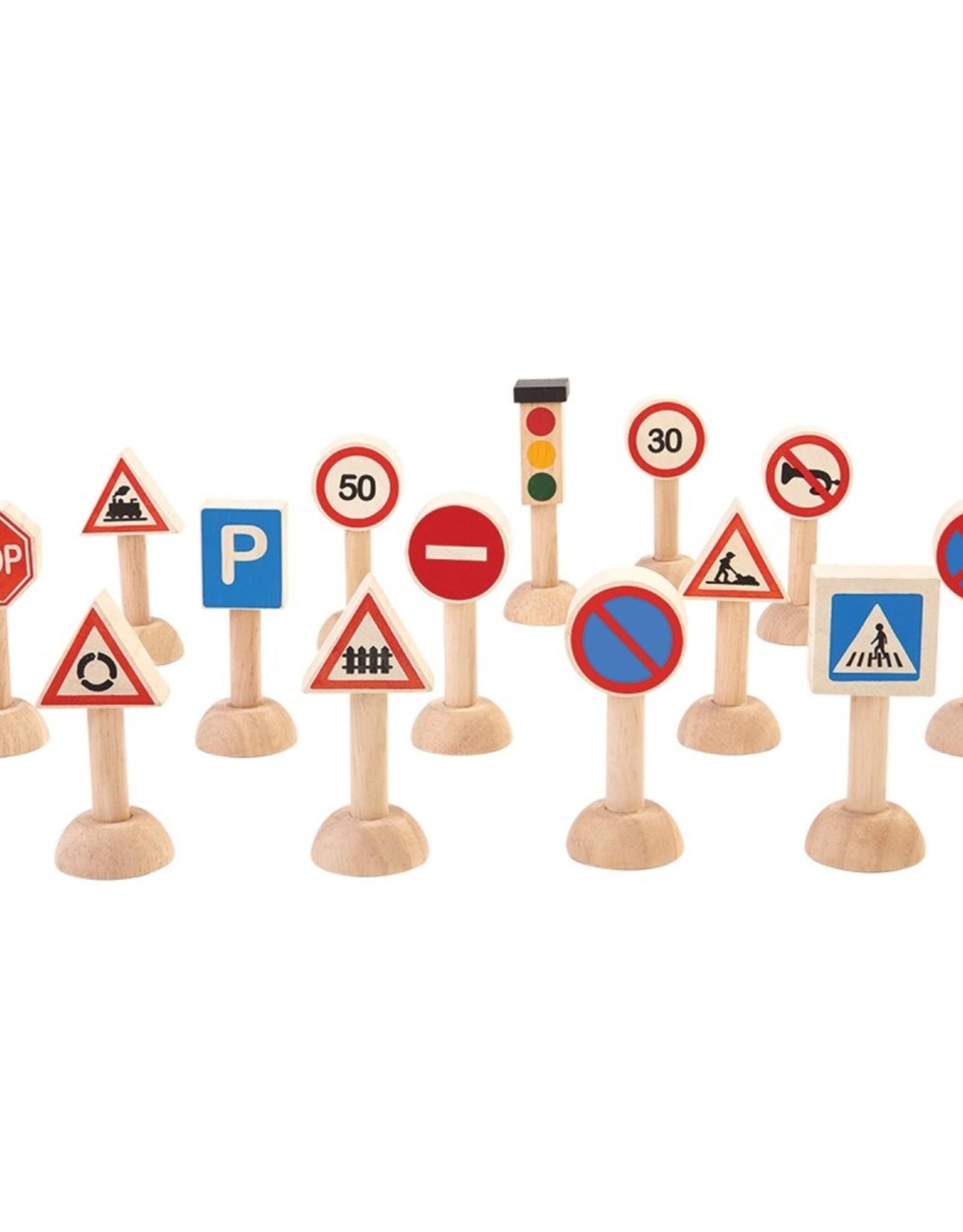 Plan Toys Ensemble de panneaux de signalisation et de lumières