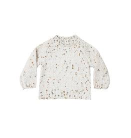 Pom chenille sweater
